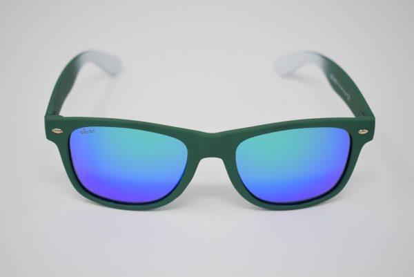 Gafas de sol verdes y blancas unisex polarizadas