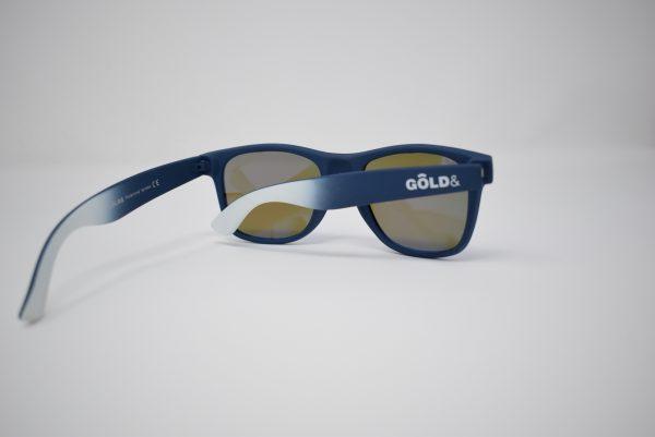 Gafas de sol azules y blancas unisex polarizadas