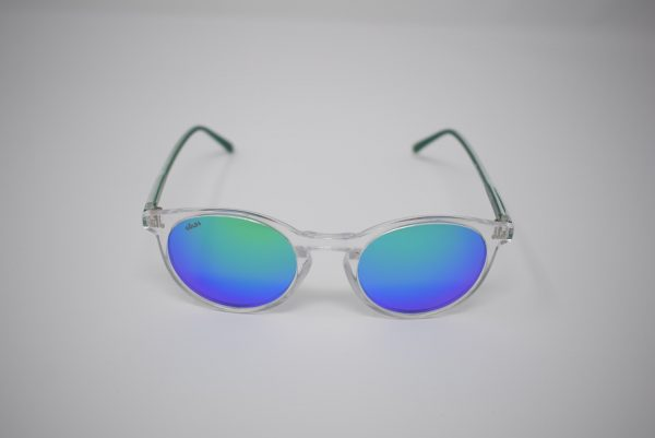 Gafas de sol verdes y transparentes unisex polarizadas
