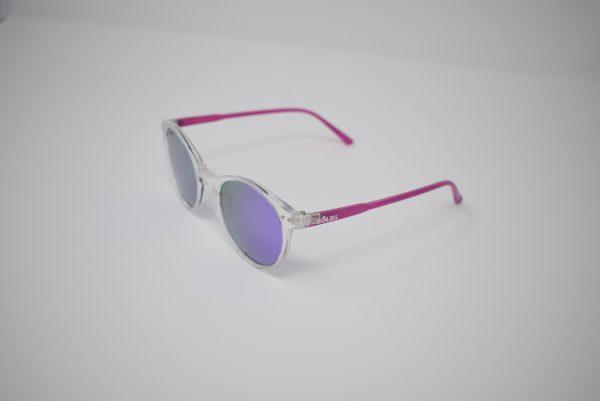 Gafas de sol rosas y transparentes unisex polarizadas