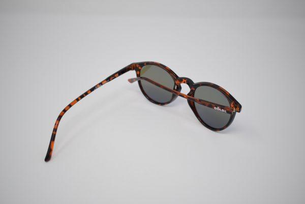 Gafas de sol marrones y negras leopardo unisex polarizadas