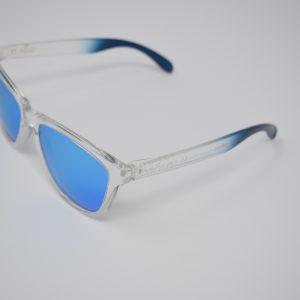 Gafas de sol azul y transparente unisex polarizadas