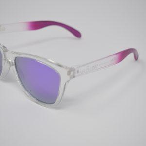 Gafas de sol rosas y transparente unisex polarizadas