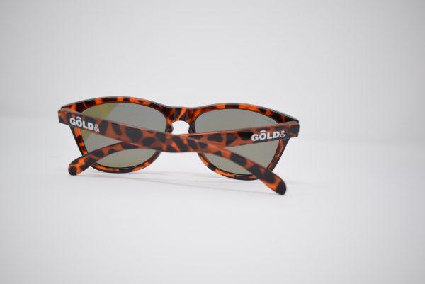 Gafas de marron y negro leopardo unisex polarizadas
